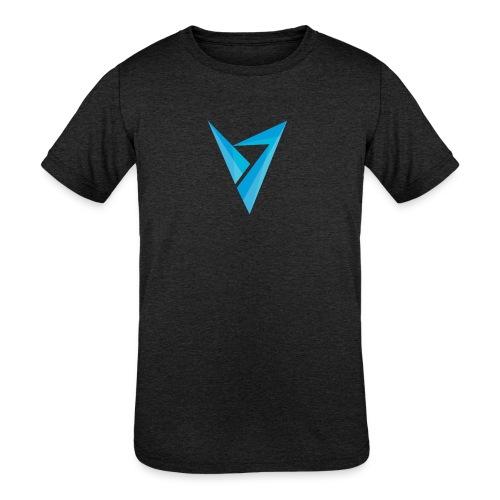 v logo - Kids' Tri-Blend T-Shirt