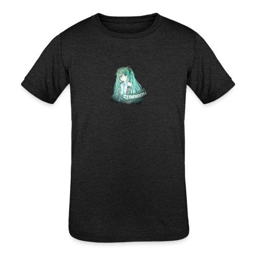 Summrrz Logo Transparent - Kids' Tri-Blend T-Shirt
