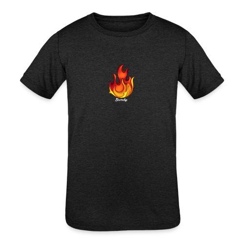 Scorchy White Logo - Kids' Tri-Blend T-Shirt