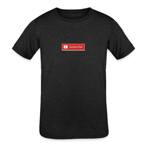 YOUTUBE SUBSCRIBE - Kids' Tri-Blend T-Shirt
