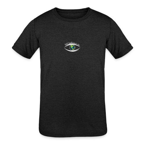 Self Sufficient Me Logo white small coy design - Kids' Tri-Blend T-Shirt