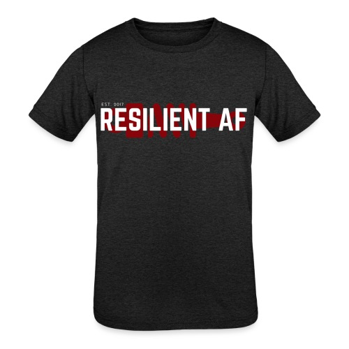 RESILIENT WHITE with red - Kids' Tri-Blend T-Shirt