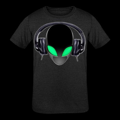 Alien Music Lover DJ (Simplified Fit All Design) - Kids' Tri-Blend T-Shirt