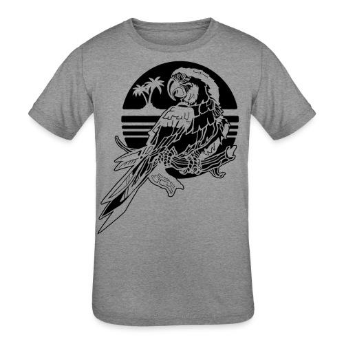 Tropical Parrot - Kids' Tri-Blend T-Shirt