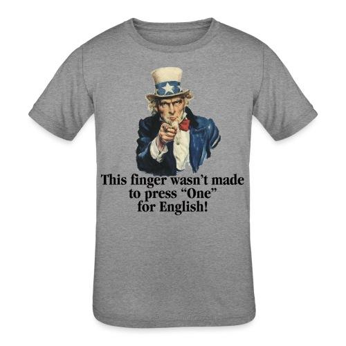 Uncle Sam - Finger - Kids' Tri-Blend T-Shirt