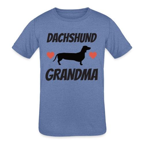 Dachshund Grandma - Kids' Tri-Blend T-Shirt
