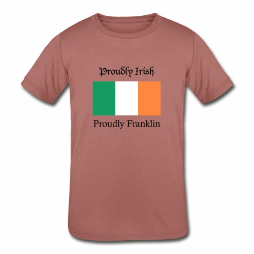 Proudly Irish, Proudly Franklin - Kids' Tri-Blend T-Shirt