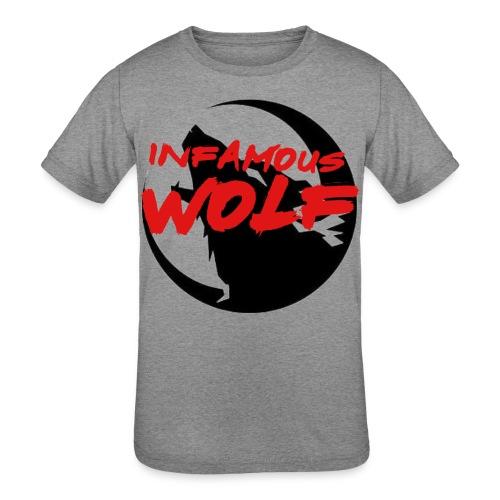 Infamous Wolf shirt(kid) - Kid's Tri-Blend T-Shirt