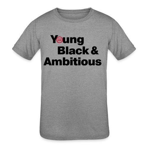 YBA white and gray shirt - Kids' Tri-Blend T-Shirt