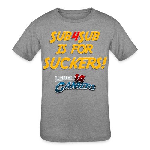 Anti Sub4Sub - Kids' Tri-Blend T-Shirt