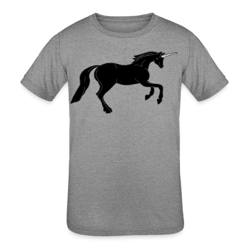 unicorn black - Kids' Tri-Blend T-Shirt