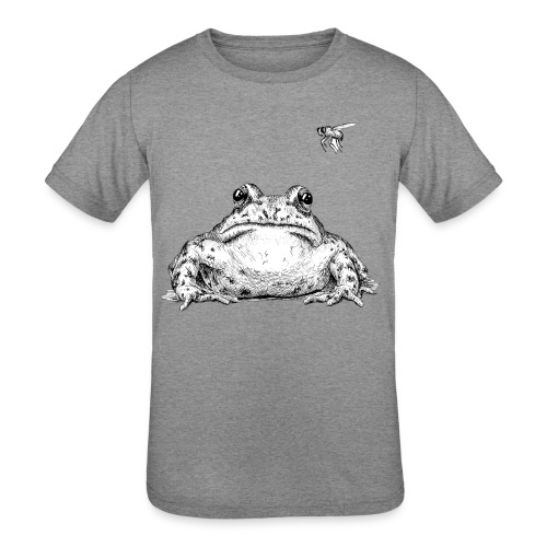 Frog with Fly by Imoya Design - Kids' Tri-Blend T-Shirt