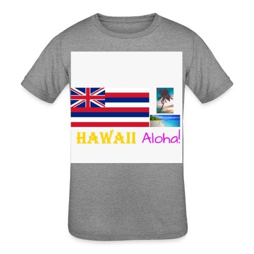Hawaii T-Shirt (Get White as the Shirt Color) - Kid's Tri-Blend T-Shirt