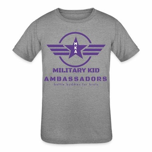 Military Kid Ambassador Purple Logo - Kids' Tri-Blend T-Shirt