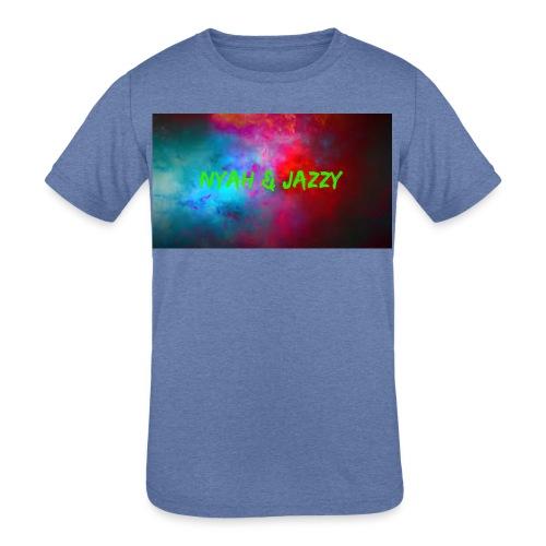 NYAH AND JAZZY - Kids' Tri-Blend T-Shirt