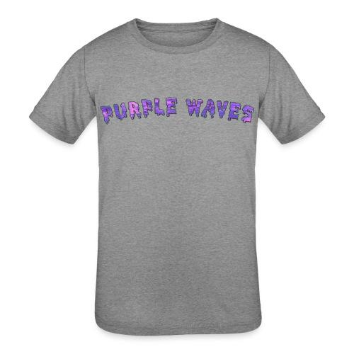 Purple Waves - Kids' Tri-Blend T-Shirt