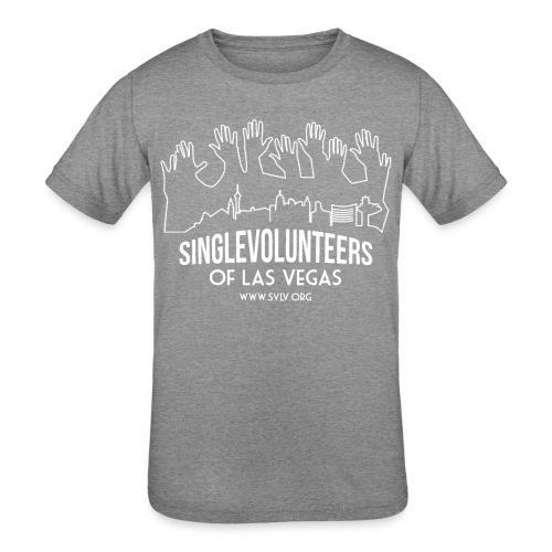 White logo SVLV - Kids' Tri-Blend T-Shirt