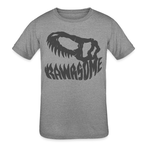 RAWRsome T Rex Skull by Beanie Draws - Kids' Tri-Blend T-Shirt
