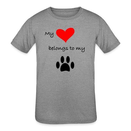 Dog Lovers shirt - My Heart Belongs to my Dog - Kids' Tri-Blend T-Shirt