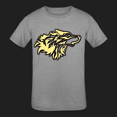 wolfepacklogobeige png - Kids' Tri-Blend T-Shirt