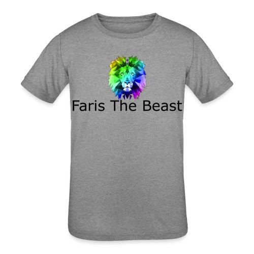 Faris The Beast Text w/ Logo - Kids' Tri-Blend T-Shirt
