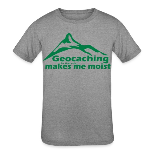 Geocaching in the Rain - Kids' Tri-Blend T-Shirt