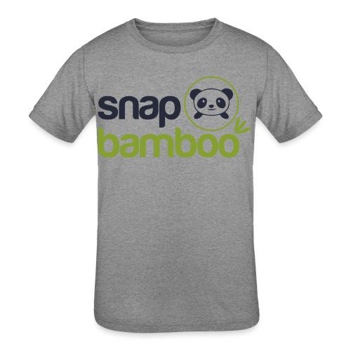 Snap Bamboo Square Logo Branded - Kids' Tri-Blend T-Shirt