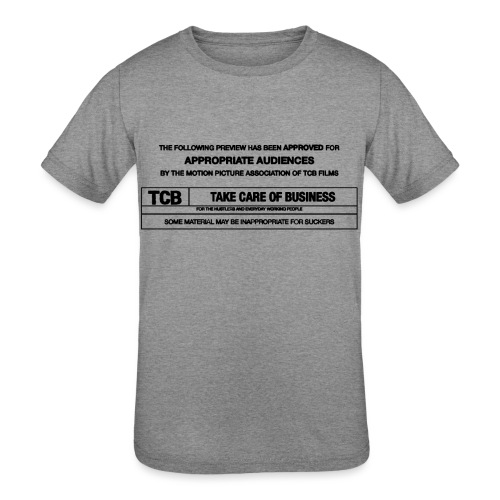 TCB Films Disclamer - Kids' Tri-Blend T-Shirt