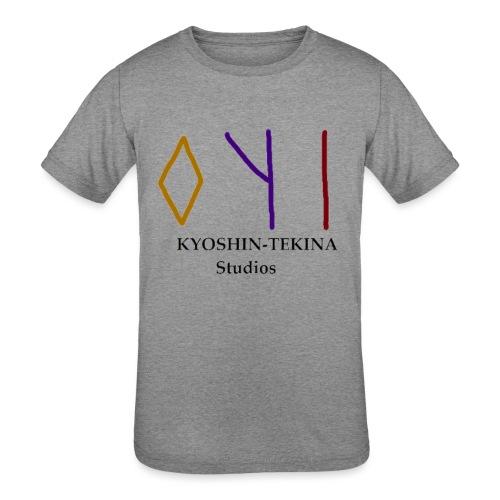 Kyoshin-Tekina Studios logo (black test) - Kids' Tri-Blend T-Shirt