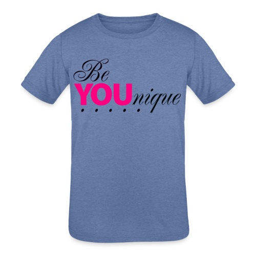 Be Unique Be You Just Be You - Kids' Tri-Blend T-Shirt