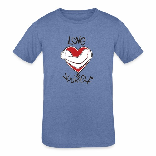 LOVE YOURSELF - Kids' Tri-Blend T-Shirt