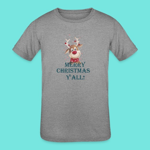 MERRY CHRISTMAS Y'ALL! - Kids' Tri-Blend T-Shirt