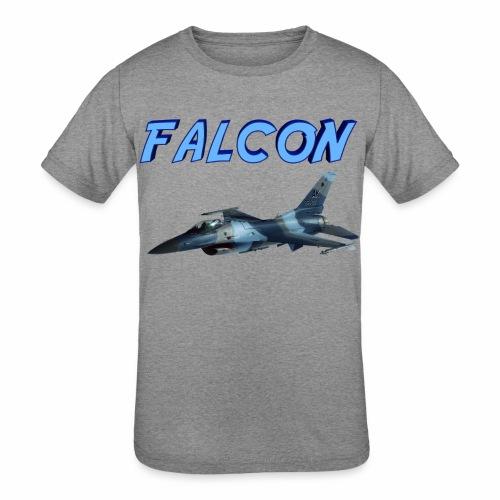 F-16 Fighting Falcon - Kids' Tri-Blend T-Shirt