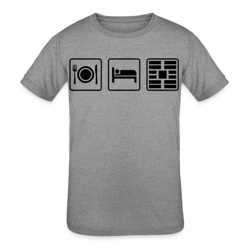 Eat Sleep Urb big fork - Kids' Tri-Blend T-Shirt