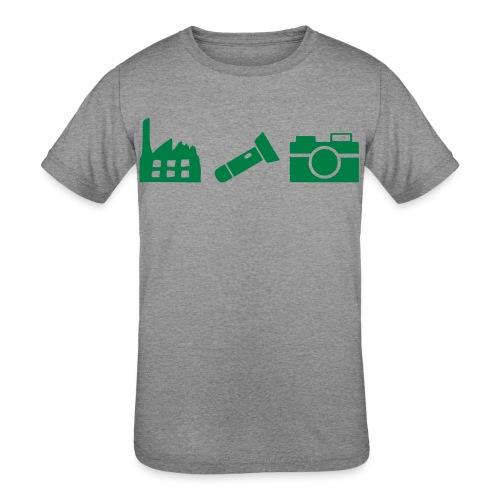 DCUE_Icons_Small - Kids' Tri-Blend T-Shirt