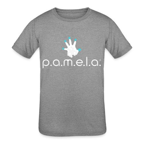 P.A.M.E.L.A. Logo White - Kids' Tri-Blend T-Shirt
