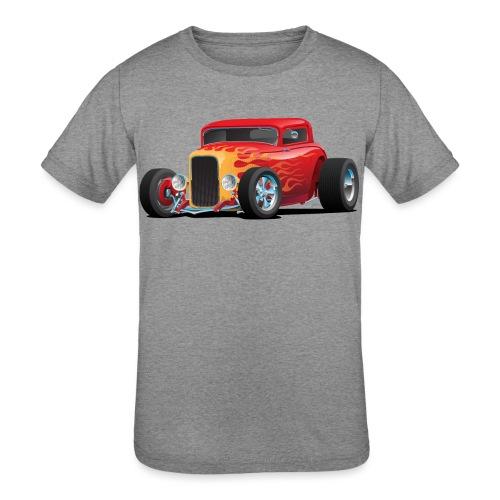 Classic Bold Red Custom Street Rod - Kids' Tri-Blend T-Shirt