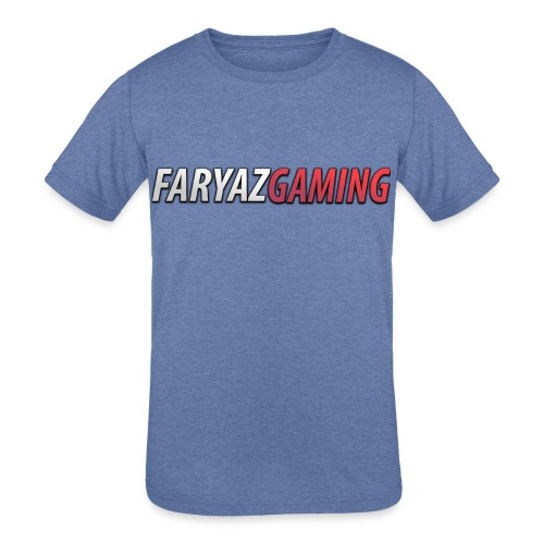 FaryazGaming Text - Kids' Tri-Blend T-Shirt