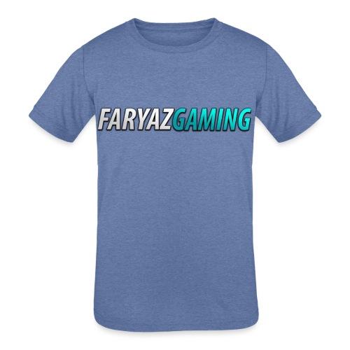 FaryazGaming Theme Text - Kids' Tri-Blend T-Shirt