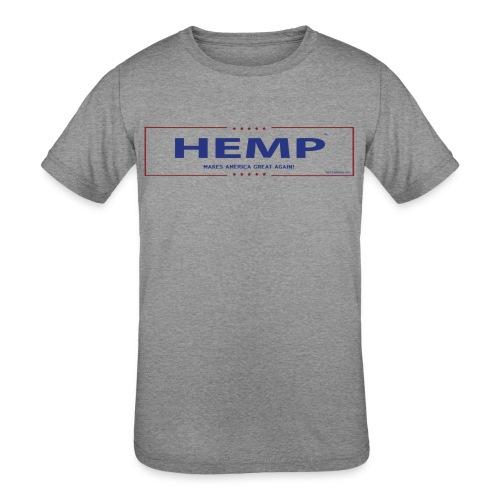 Hemp Makes America Great Again on White - Kids' Tri-Blend T-Shirt
