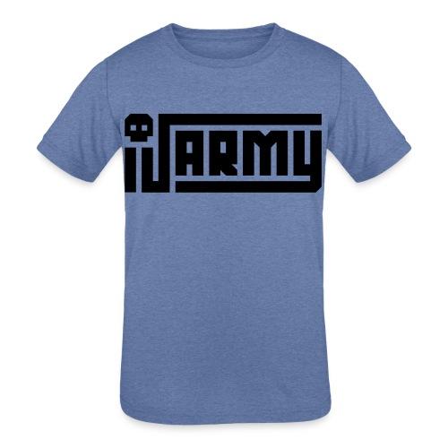 iJustine - iJ Army Logo - Kids' Tri-Blend T-Shirt