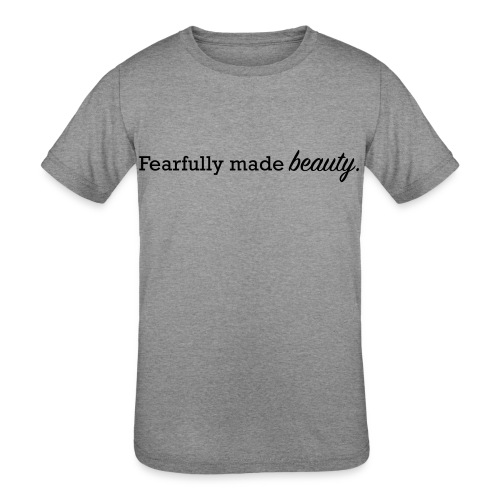 fearfully made beauty - Kids' Tri-Blend T-Shirt