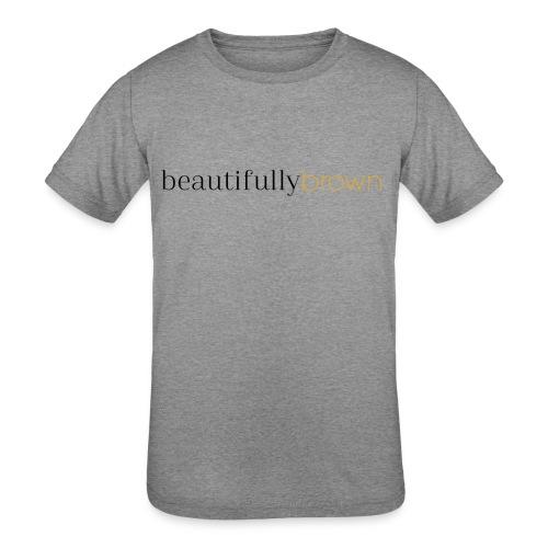 beautifullybrown - Kids' Tri-Blend T-Shirt