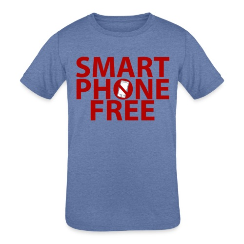 SMART PHONE FREE - Kids' Tri-Blend T-Shirt
