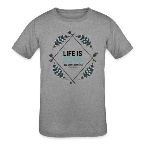 Life is Better in Mocassins - Kids' Tri-Blend T-Shirt