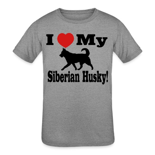 I Love my Siberian Husky - Kids' Tri-Blend T-Shirt