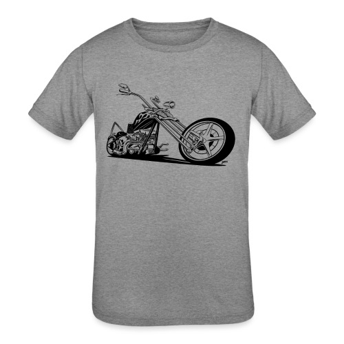 Custom American Chopper Motorcycle - Kids' Tri-Blend T-Shirt