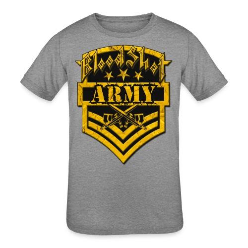 BloodShot ARMYLogo Gold /Black - Kids' Tri-Blend T-Shirt