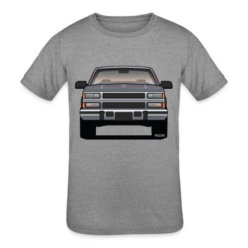 Design Icon: American Bowtie Silver Urban Truck - Kids' Tri-Blend T-Shirt