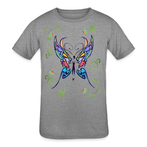 Bright Butterfly - Kids' Tri-Blend T-Shirt